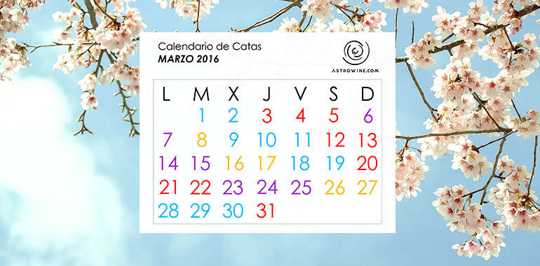 Calendario de Catas MARZO 2016
