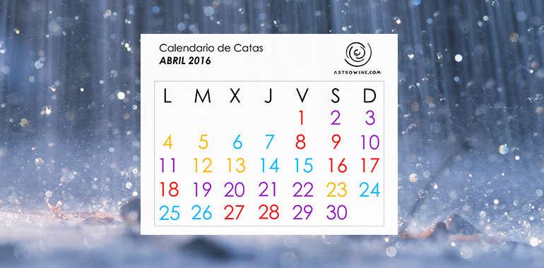 Calendario de Catas ABRIL 2016