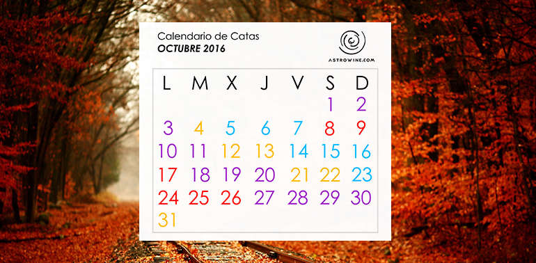 Calendario de Catas OCTUBRE 2016