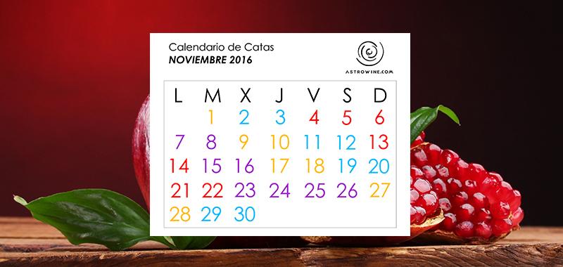 Calendario de catas noviembre 2016 for Calendario lunar noviembre 2016