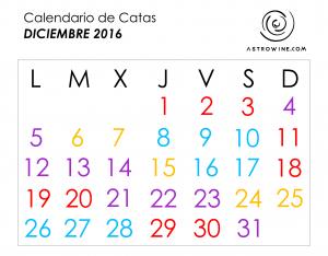 Calendario de catas diciembre 2016