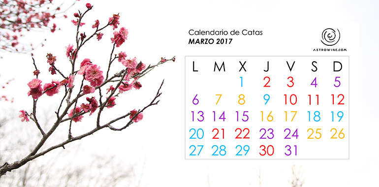 Calendario de Catas MARZO 2017