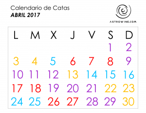Calendariod de catas abril 2017